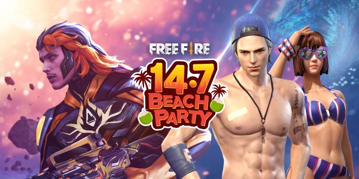 Beach party acontece na próxima semana no Garena Free Fire
