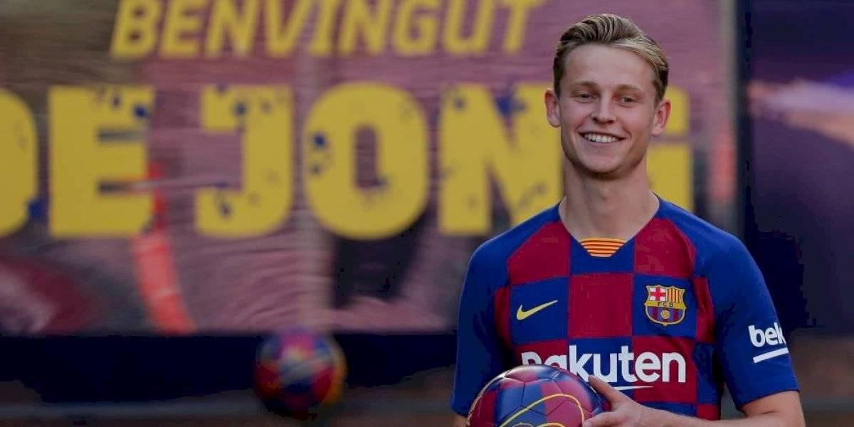 Competencia para Vidal: La joya holandesa Frenkie de Jong tuvo su presentación en Barcelona