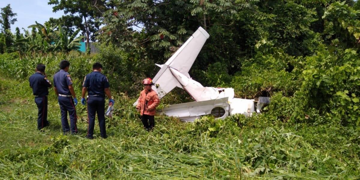 Piloto de avioneta muere al estrellarse en un sector de Coatepeque