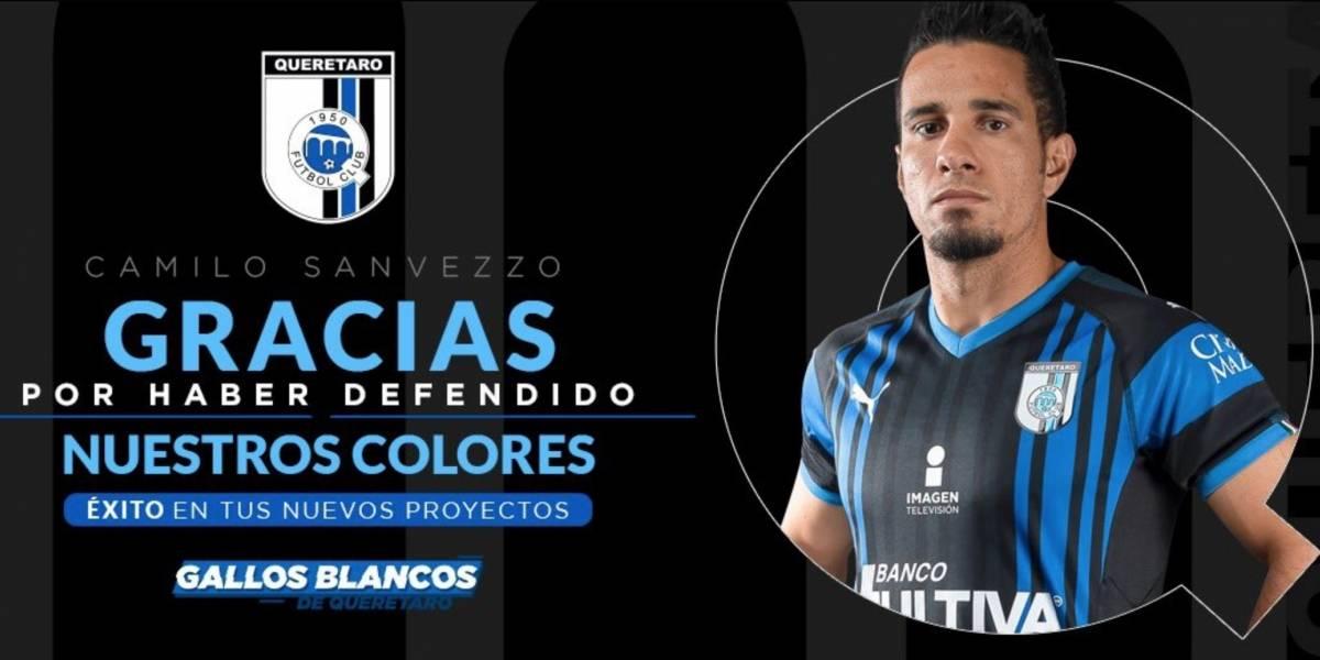 Camilo Sanvezzo se despide del Querétaro