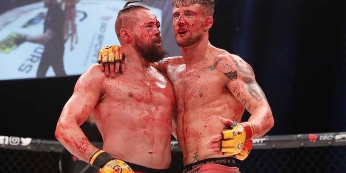 MMA: Pelearon hasta bañarse en sangre y se tuvo que suspender la batalla