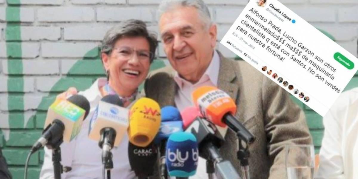 Claudia López le dijo enmermelado a Lucho Garzón en el pasado, pero ahora están juntos