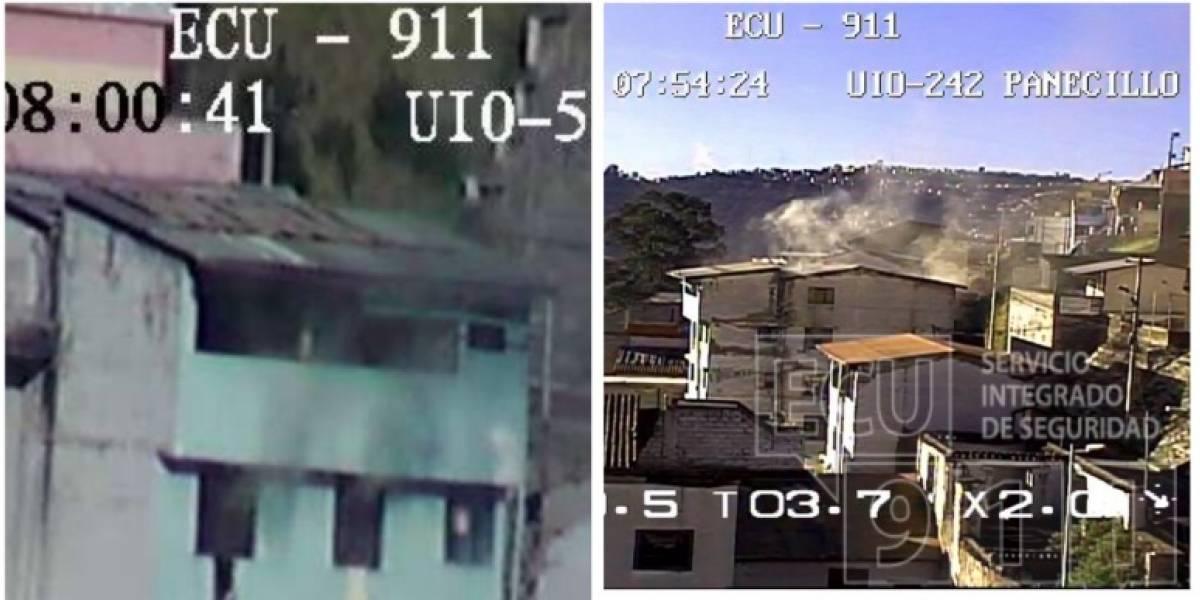 Se reporta un conato de incendio estructural en el sector de El Panecillo
