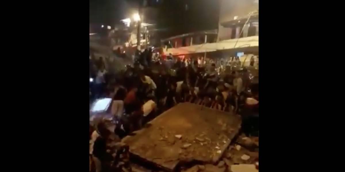 Se desploma edificio residencial en Medellín y deja varios muertos
