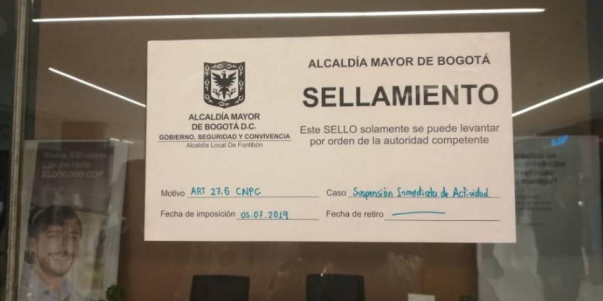 Sellan oficinas de Uber en Bogotá