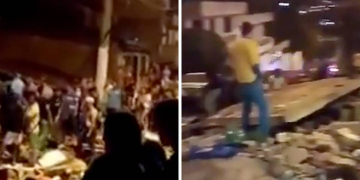 (VIDEOS) Los angustiantes momentos de rescate luego de desplome de edificio en Medellín