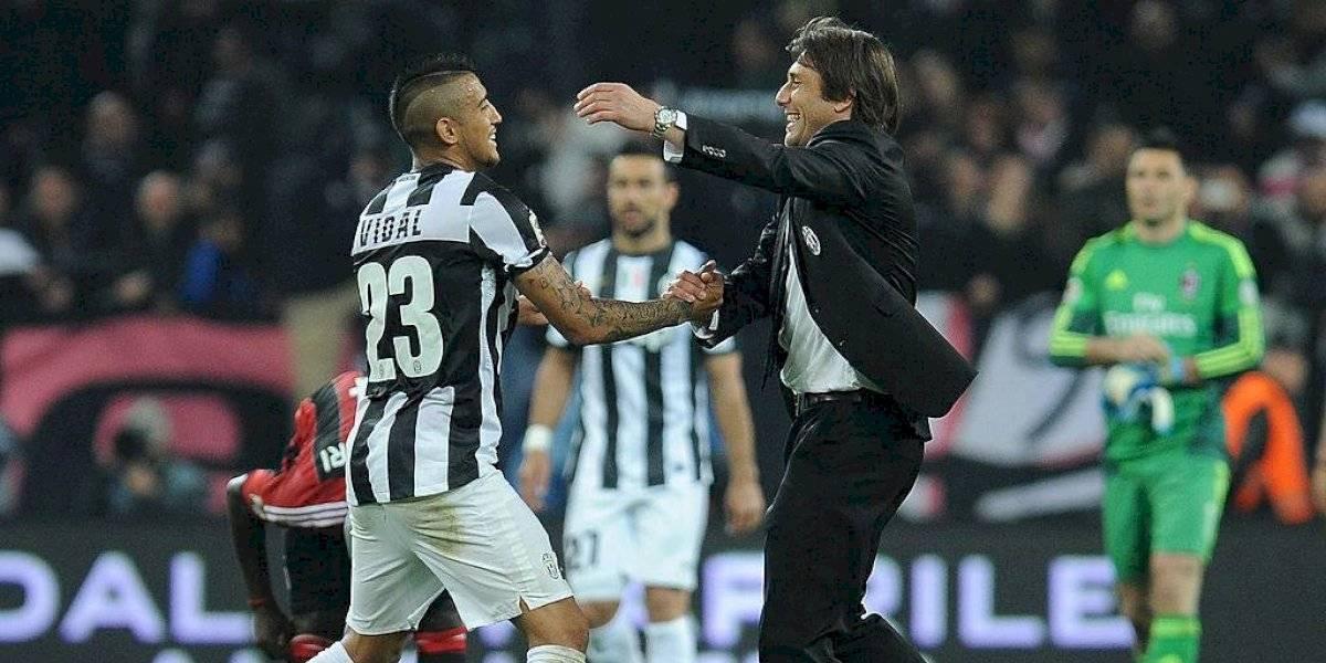 Antonio Conte quiere volver a festejar con los goles de Arturo Vidal