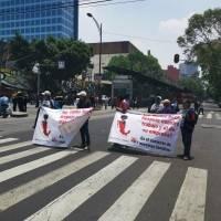 Manifestación en Insurgentes Sur