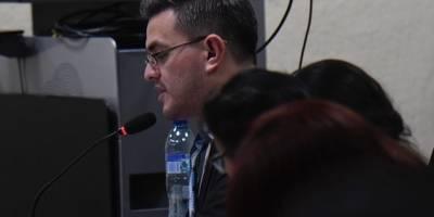 """Carlos de León, fiscal del MP asignado al caso """"Estado como botín: Registro General de la Propiedad""""."""
