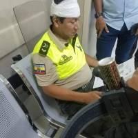 Policías heridos en la cárcel de Portoviejo