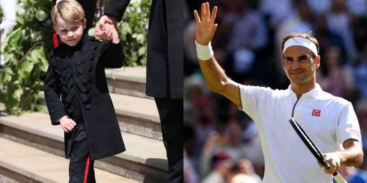 Príncipe George faz aulas de tênis com Roger Federer
