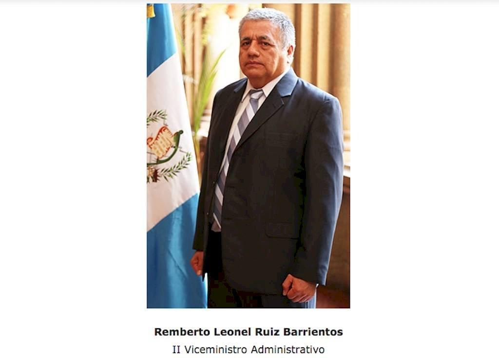 Remberto Ruiz participa de la administración de Enrique Degenhart en el Ministerio de Gobernación. Foto: Mingob