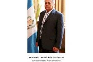 Remberto Ruiz, viceministro Administrativo.