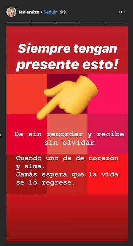 Foto Instagram: Tania Ruiz