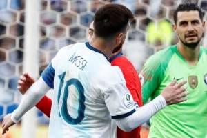Messi fue expulsado