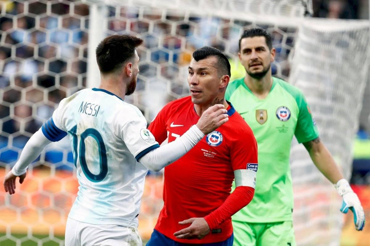 Messi fue expulsado EFE