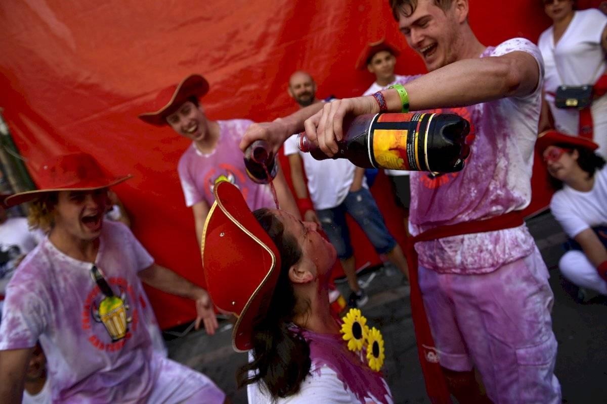 El segundo encierro de San Fermín 2019, en imágenes