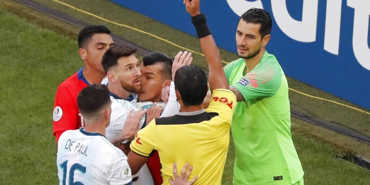Lionel Messi fue suspendido con una fecha tras ser expulsado ante Chile por Copa América