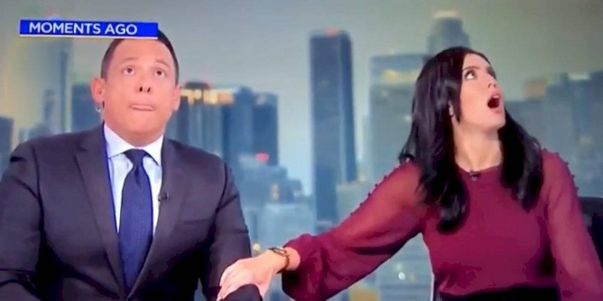 El video se volvió viral: la aterrada reacción de conductora de noticias en pleno terremoto de California que convirtió en tendencia a Ramón Ulloa
