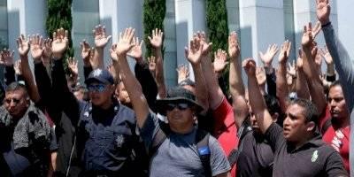 Cuarto día de protestas de policías federales