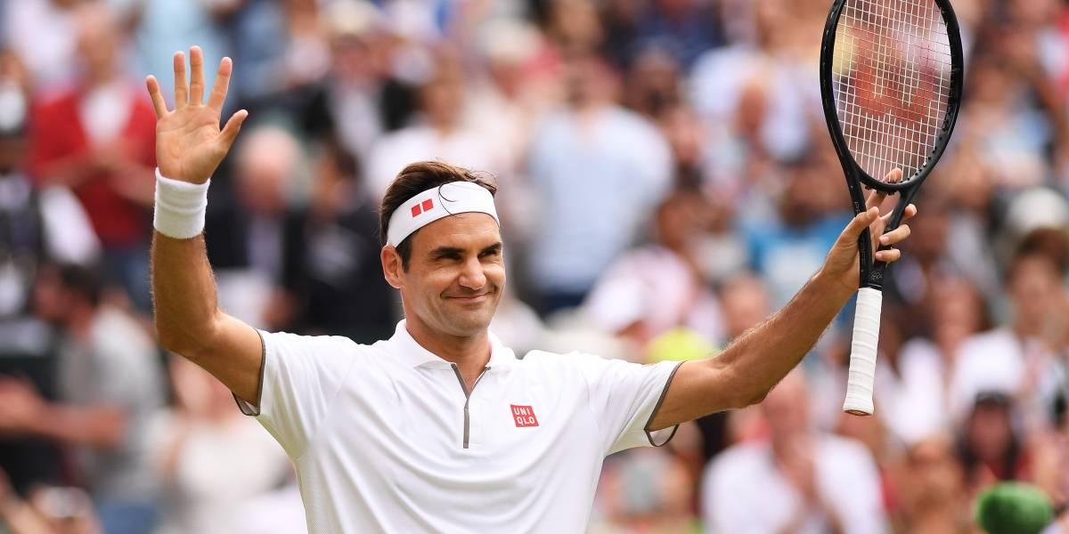 Federer avanza en Wimbledon y llega a las 350 victorias en Grand Slams