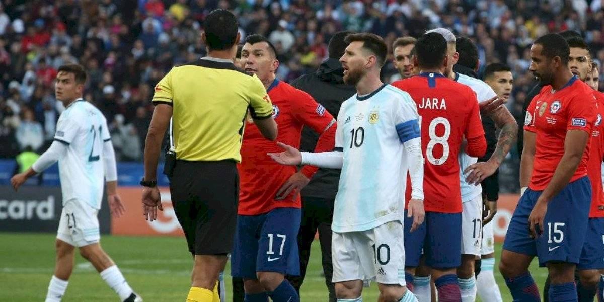 El contundente informe arbitral tras la expulsión de Gary Medel y Lionel Messi en Copa América