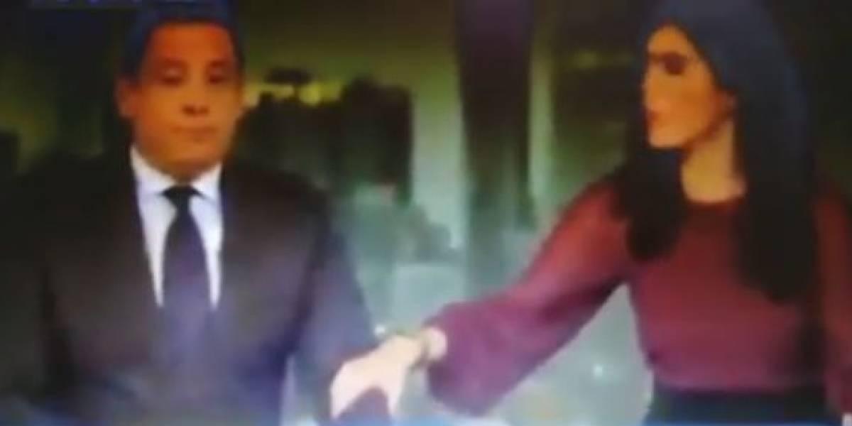 (Video) Presentadores de noticiero sufren en vivo el temblor de 7.1 en EE.UU. y se ocultan bajo la mesa