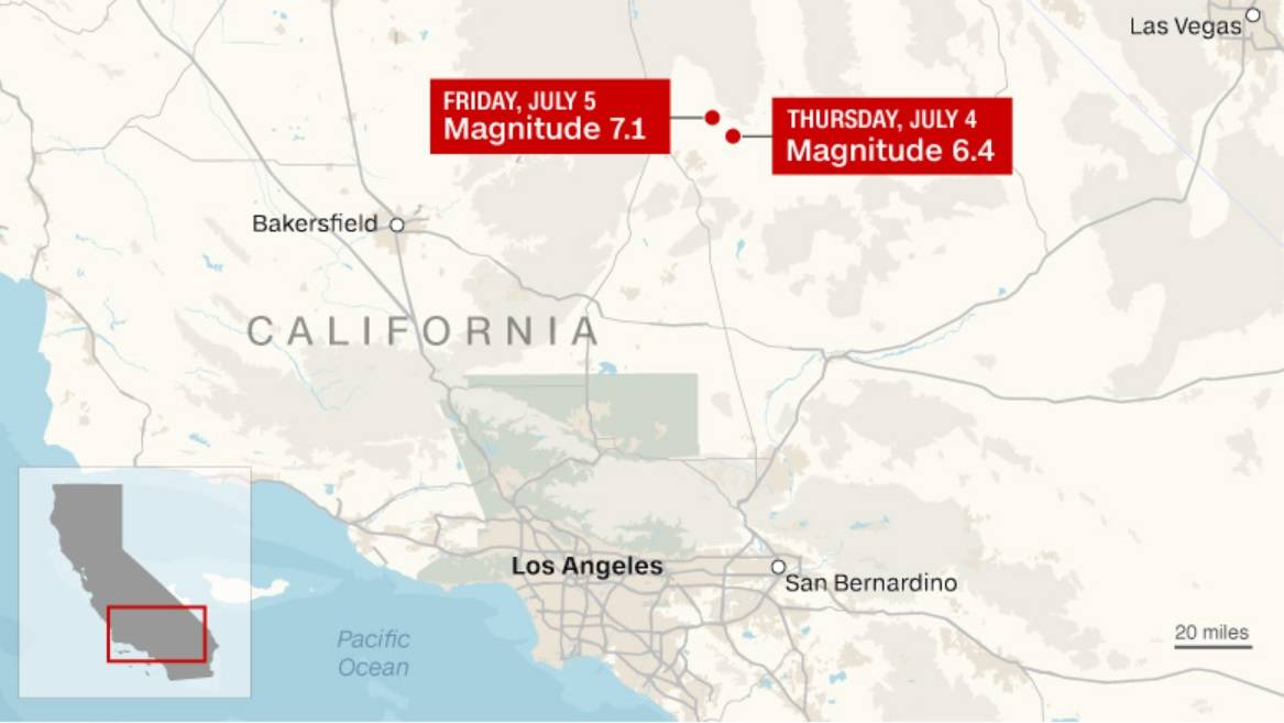 Terror causado por sismo de 7,1 en California quedó registrado durante la transmisión en vivo de un noticiero