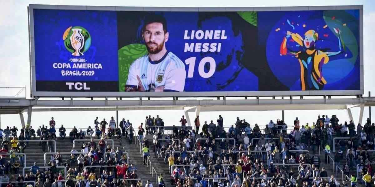 Messi ve desde el camerino el tercer lugar de Argentina en Copa América
