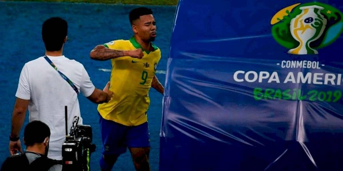 Brasil se queda con 10, Gabriel Jesús sale expulsado en la Final