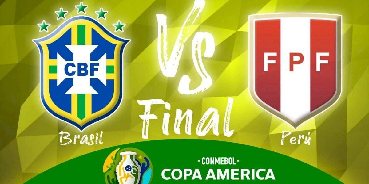 Brasil vence 3-1 a Perú en la Copa América