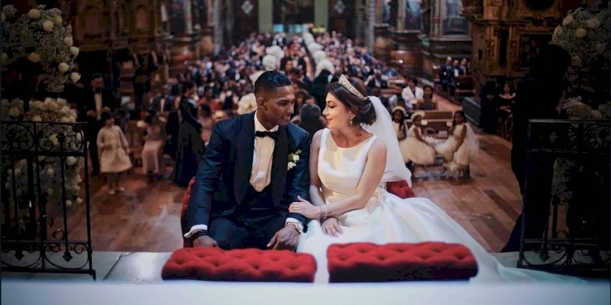Las fotos del matrimonio de Antonio Valencia
