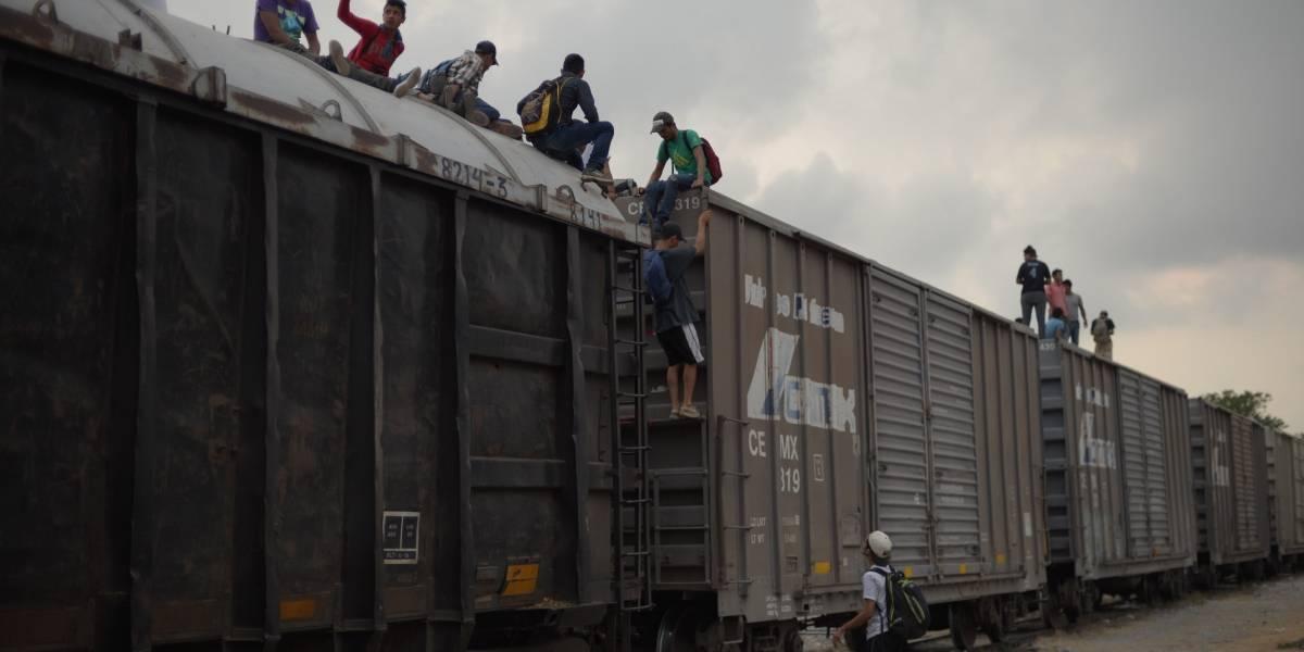 Aseguran a 30 migrantes que viajaban en La Bestia