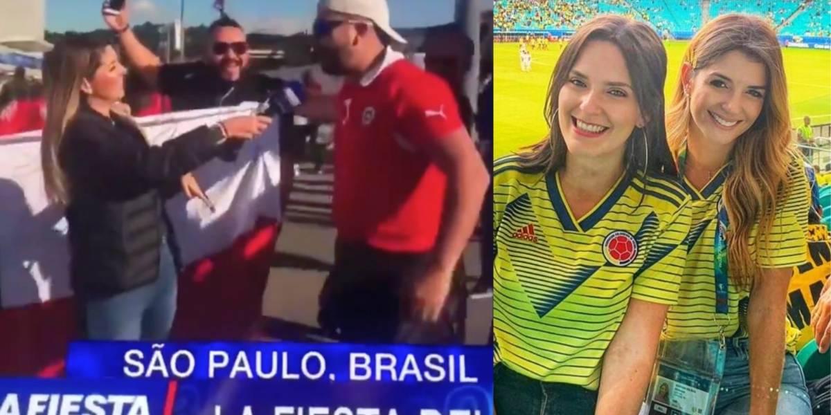Fuertes críticas a presentadora de Caracol por reírse de desagradable comentario de hincha en la Copa América