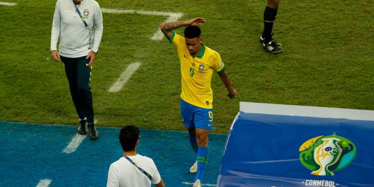 La furia de Gabriel Jesús en la final de Copa América: Fue expulsado, golpeó el VAR y realizó polémico gesto