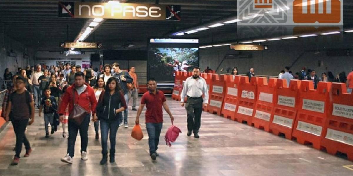Para evitar saturación en estación Mixcoac, Metro realiza encauzamiento de usuarios