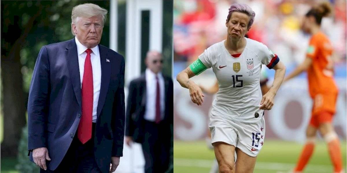 A Trump no le quedó de otra que felicitar a la selección femenil de EU
