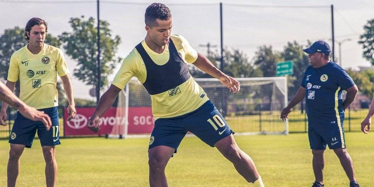 Giovani Dos Santos ya tuvo su primer entrenamiento con el América