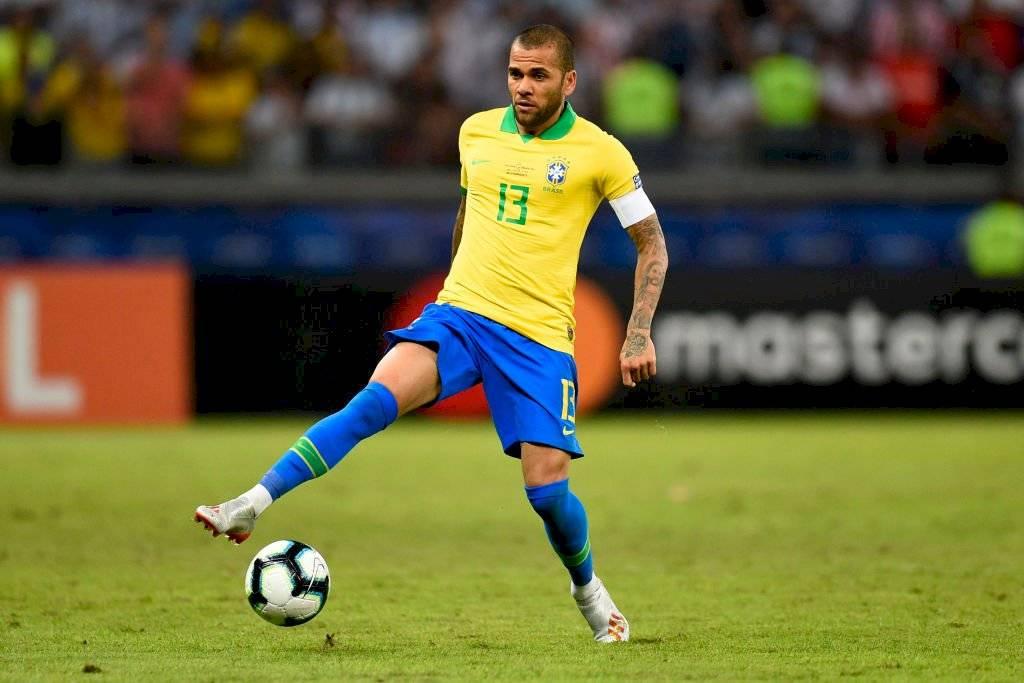 Dani Alves: El lateral derecho capitaneó y fue el emblema en la campaña del Scratch. El ex PSG demostró que sigue en un altísimo nivel. Getty Images