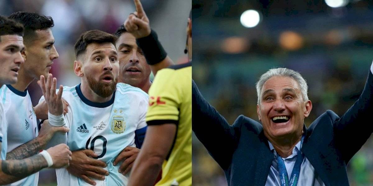 """La fuerte respuesta de Tite contra """"La Pulga"""" Messi"""