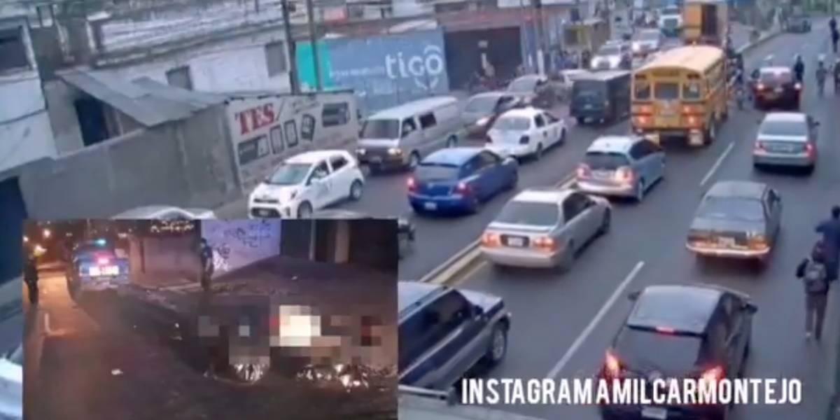 Matan a motorista por intentar robarle su vehículo en zona 18