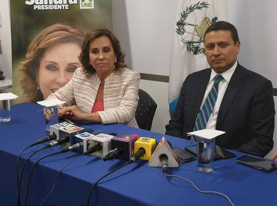 Sandra Torres exige que no se firme el acuerdo para convertir a Guatemala en el tercer país seguro para la migración. Foto: Oscar Canel, Emisoras Unidas 89.7