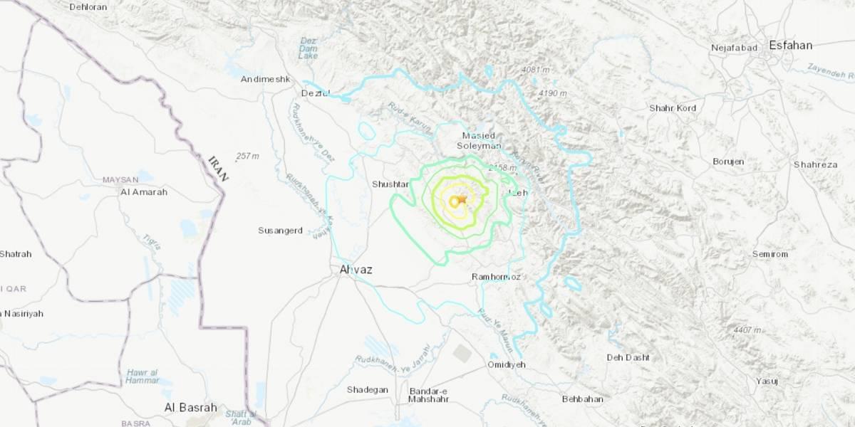 Sismo de magnitud 5,7 sacude el suroeste de Irán