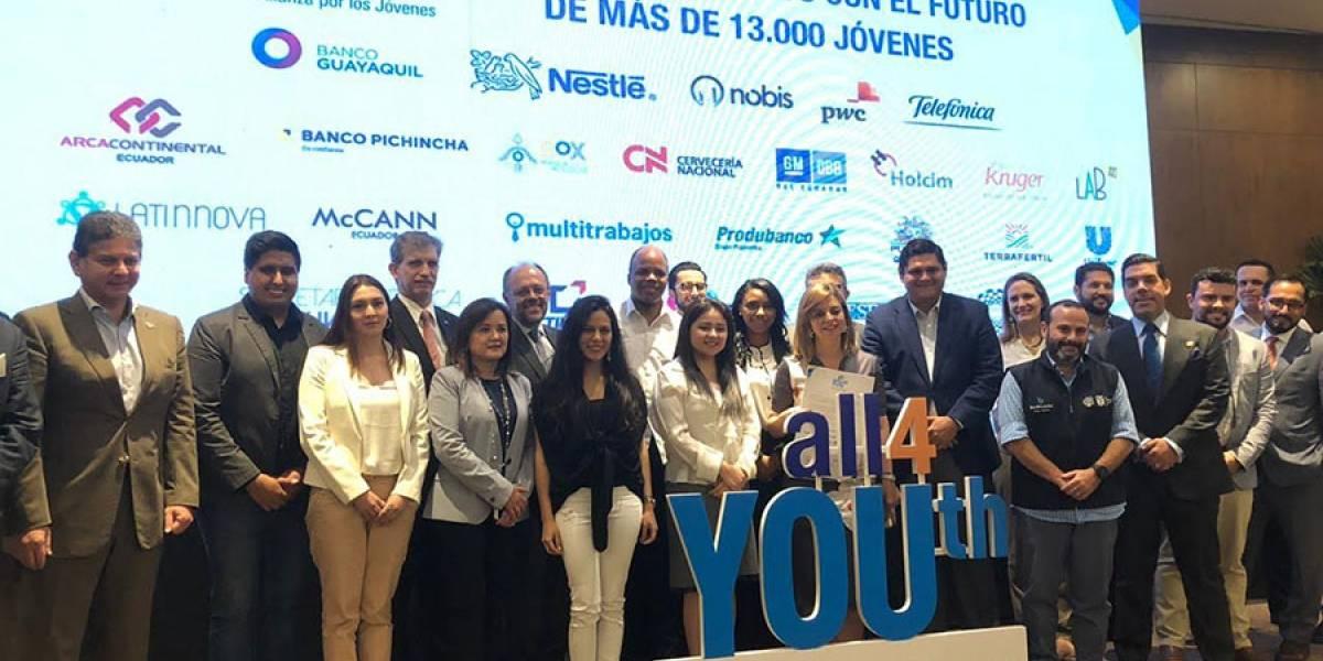 Empresas hacen una Alianza por los Jóvenes