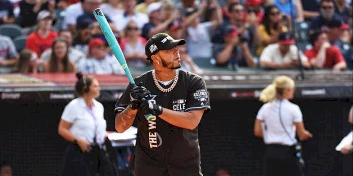 """Anuel AA, Daddy Yankee y Dasha Polanco en el """"Celebrity Softball Game"""" de la MLB"""