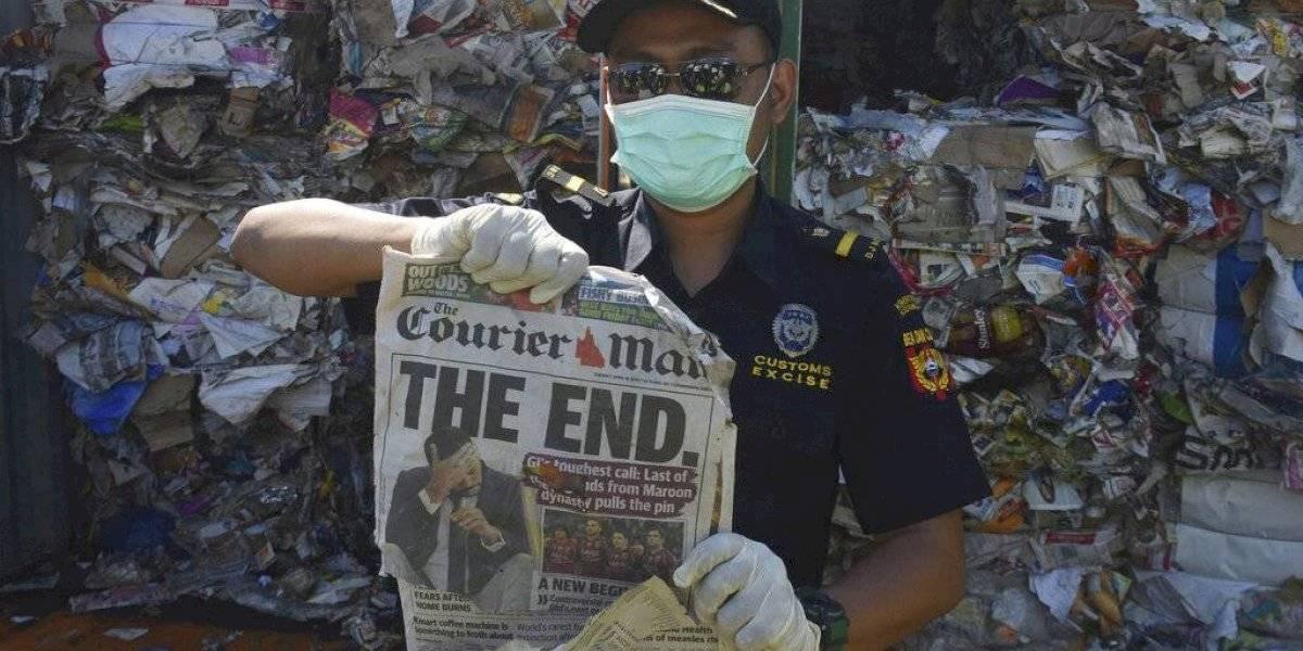 Indonesia devolverá 57 contenedores de basura a países ricos