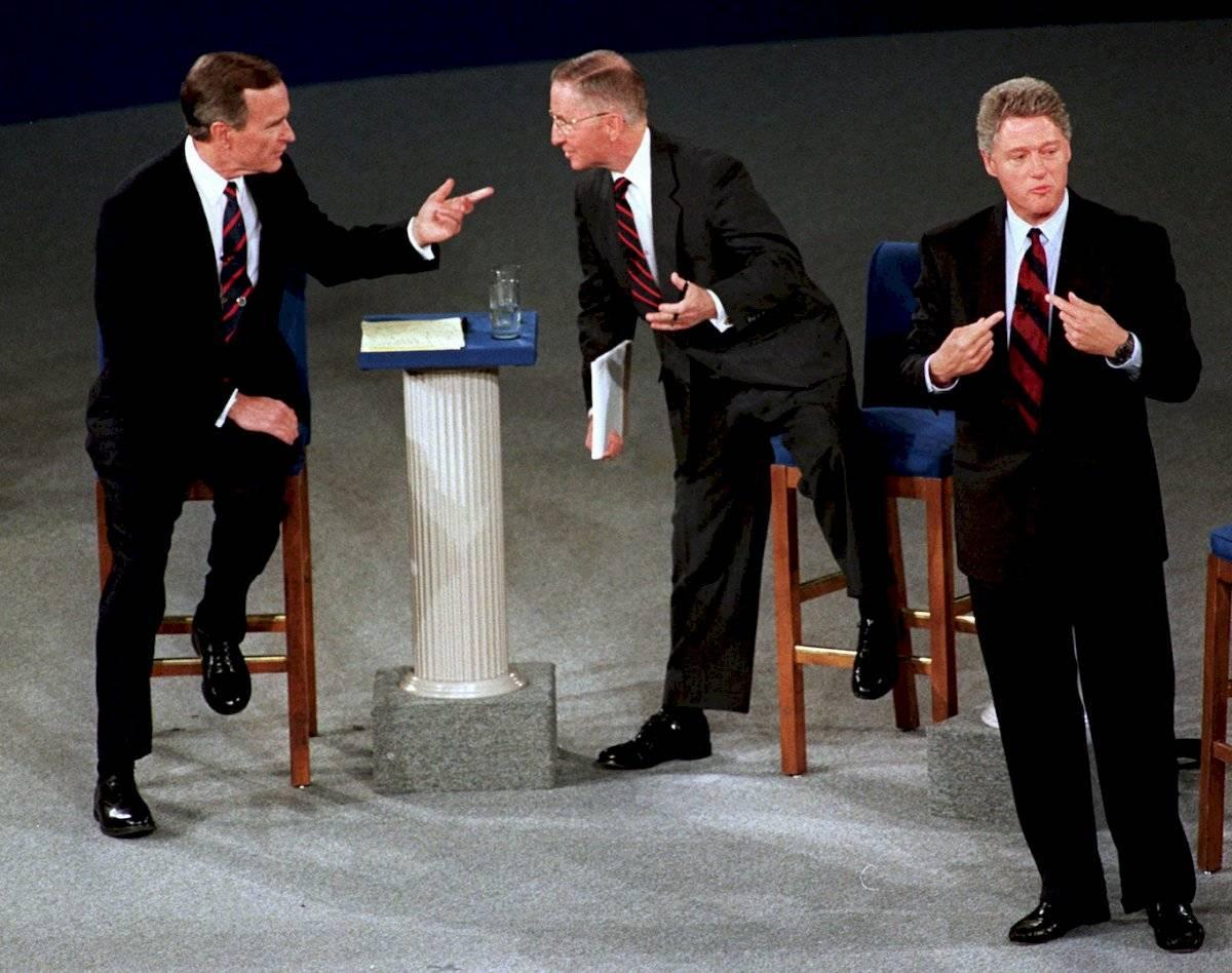 Debate presidencial en octubre de 1992 Foto: AP