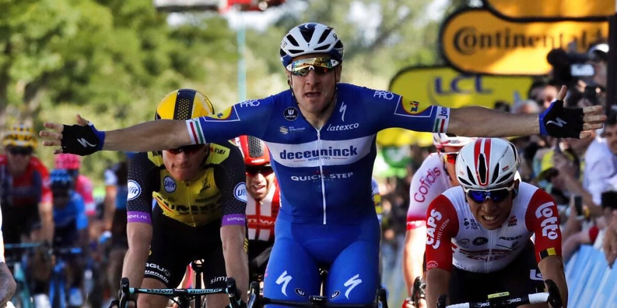 Tour de Francia: Elia Viviani se llevó la cuarta etapa y todo sigue igual en la clasificación general