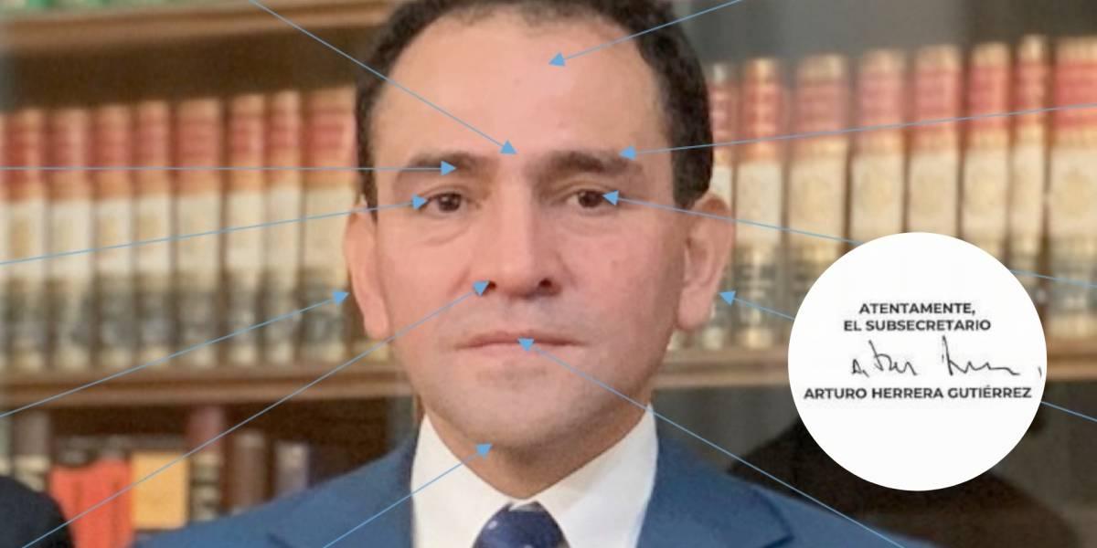 Esto dicen el rostro y la firma de Arturo Herrera, secretario de Hacienda