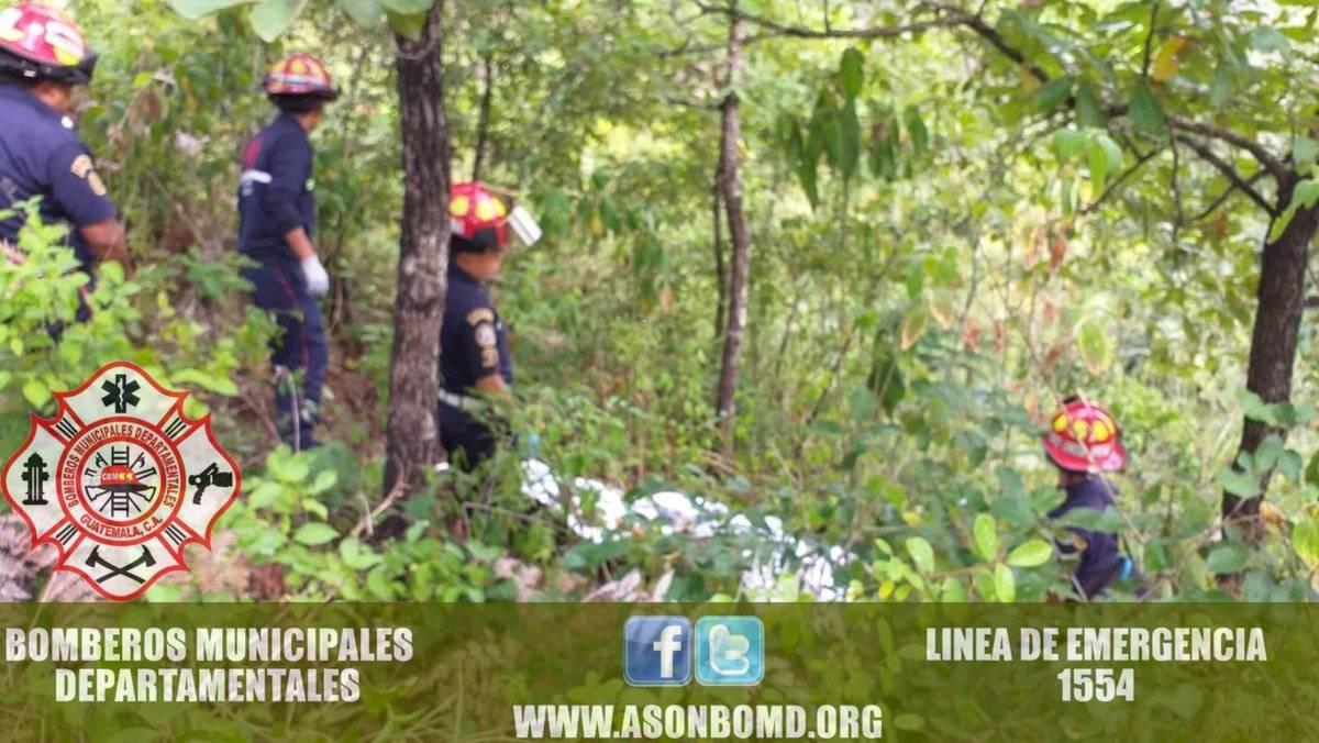 cadáver lapidado en Chimaltenango